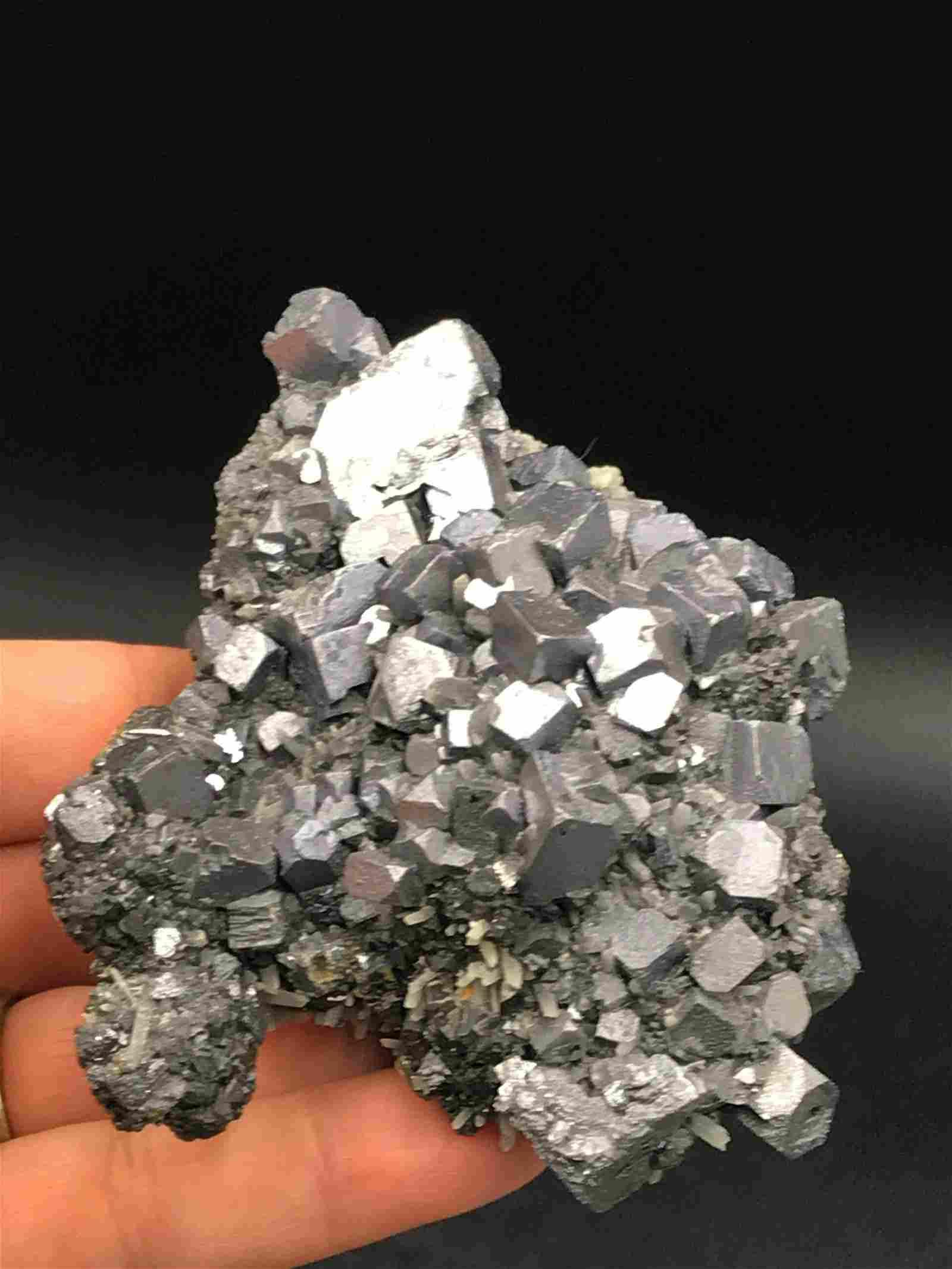 Galena, Rock, Crystal, Natural, Collectible, Mineral,
