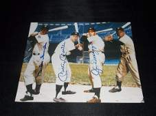 Mays, Mantle, Snider, DiMaggio, Autograph