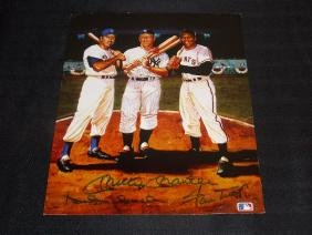 DUKE SNIDER WILLIE MAYS MICKEY MANTLE AUTOGRAPH W/COA