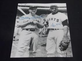 MICKEY MANTLE WILLIE MAYS AUTOGRAPH PHOTO W/COA