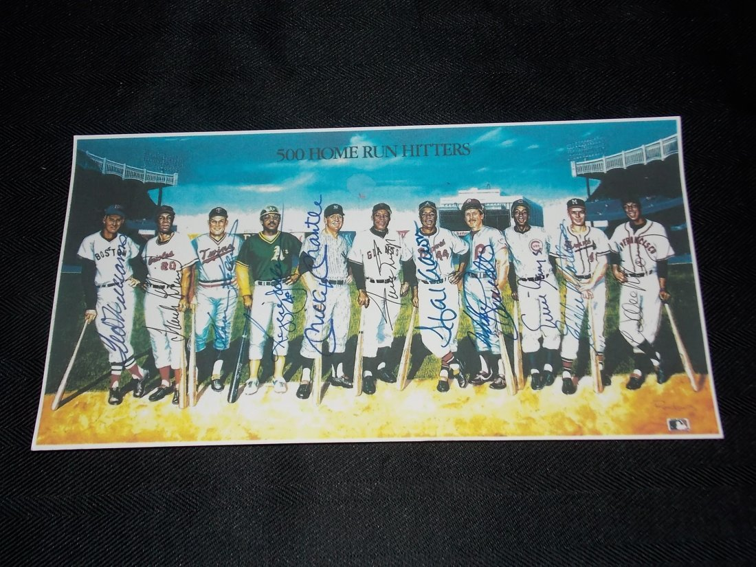 Autographed 500 Home Run Club