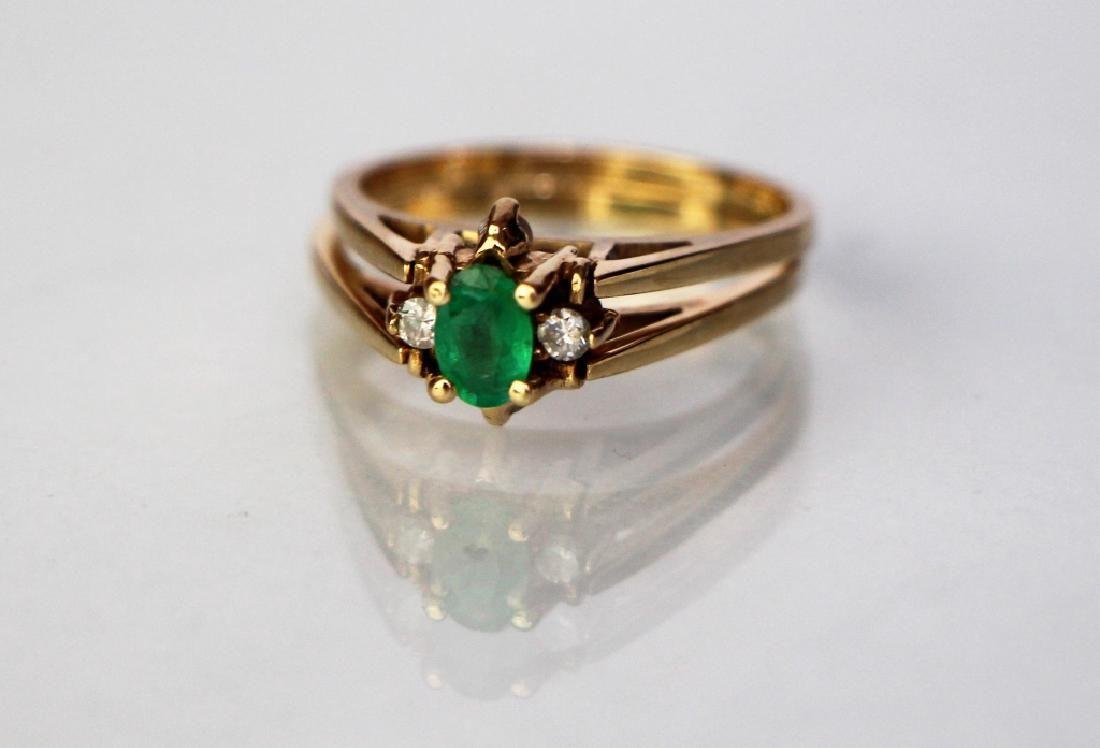 14K GOLD REVERSIBLE DIAMOND CLUSTER RING
