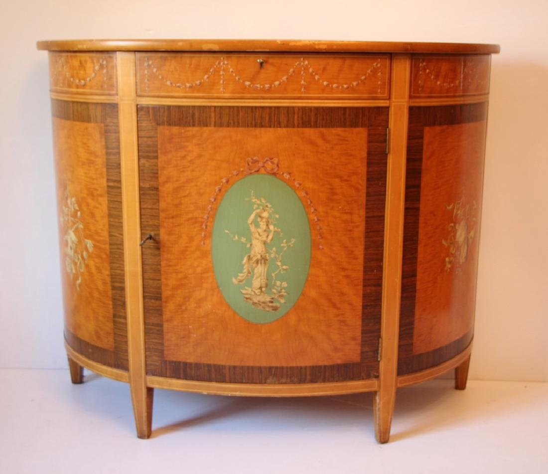 FRENCH STYLE DEMI-LUNE CABINET