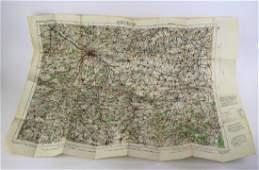 THREE WWI CANVAS MAPS
