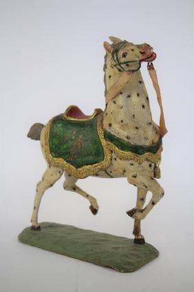 VINTAGE CARVED WOODEN HORSE