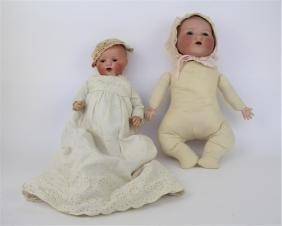 TWO ANTIQUE GERMAN BABY DOLLS