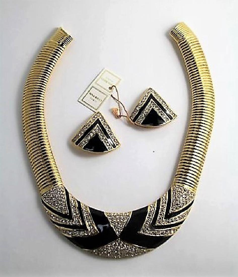 NINA RICCI NECKLACE AND EARRINGS