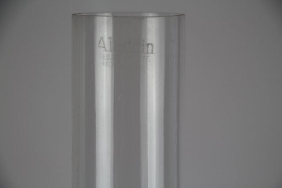 "ALADDIN JADE GREEN ""DIAMOND QUILT"" OIL LAMP - 6"