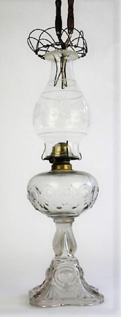 BULLSEYE PATTERN OIL LAMP