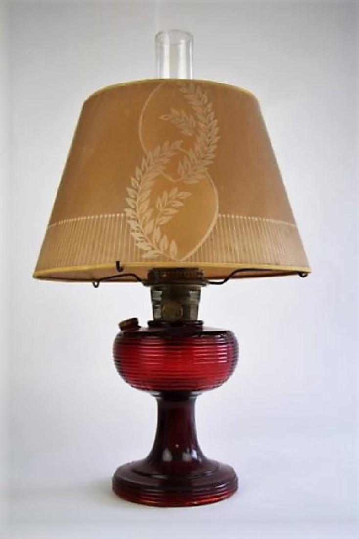 ALADDIN RED BEE HIVE OIL LAMP