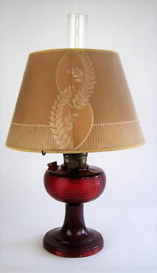 ALADDIN RED BEE HIVE OIL LAMP - 2