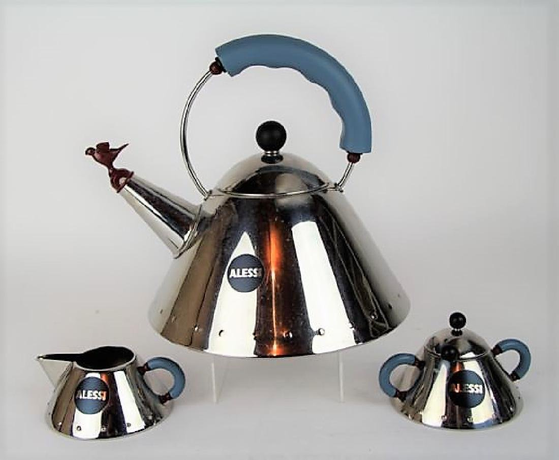 ALESSI WHISTLING TEA SET BY MICHAEL GRAVES