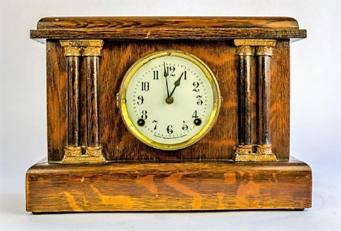 "PEQUEGNAT ""COLONIAL"" MANTLE CLOCK"