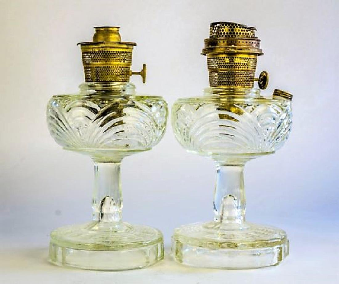 "TWO ALADDIN ""WASHINGTON DRAPE"" OIL LAMPS"
