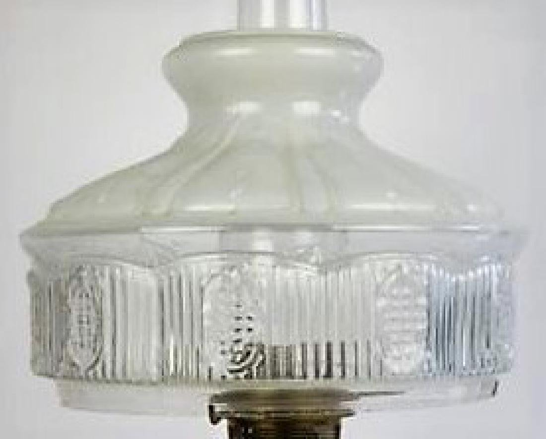 "ALADDIN ""MOONSTONE VERTIQUE"" OIL LAMP - 7"