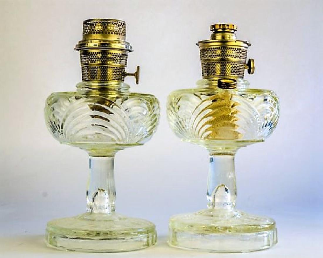 "TWO ALADDIN ""WASHINGTON DRAPE"" OIL LAMPS"