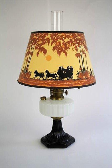 ALADDIN CORINTHIAN PATTERN OIL LAMP