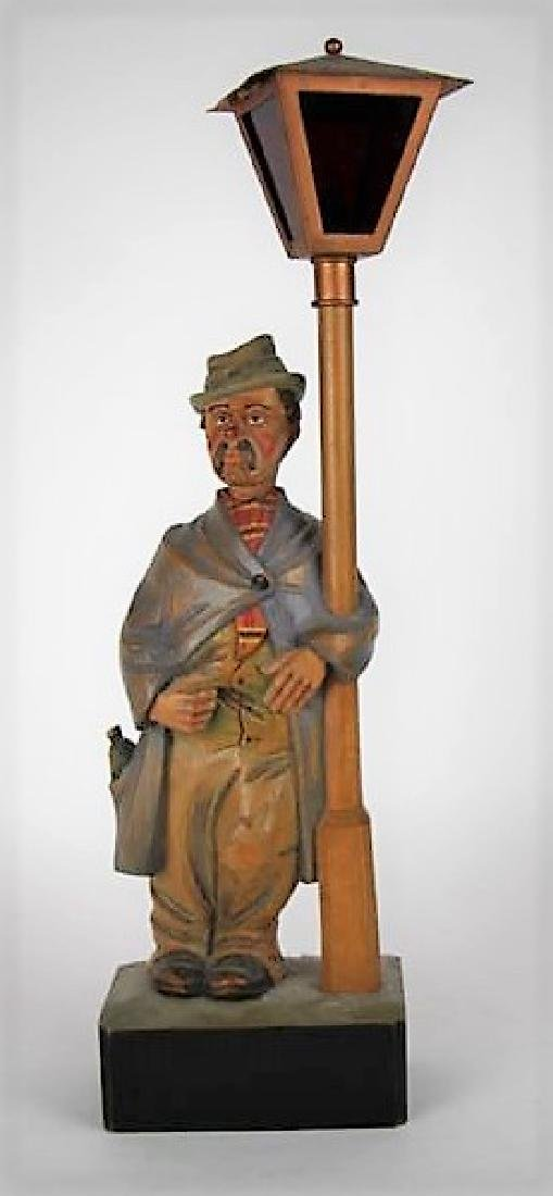 WOOD FOLK ART AUTOMATON CARVING