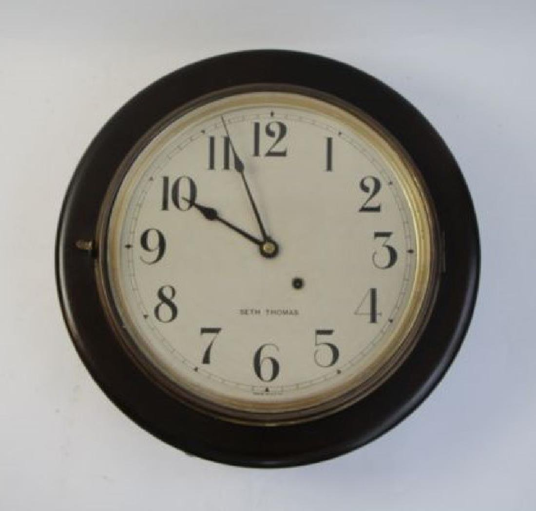SETH THOMAS SCHOOL HOUSE WALL CLOCK