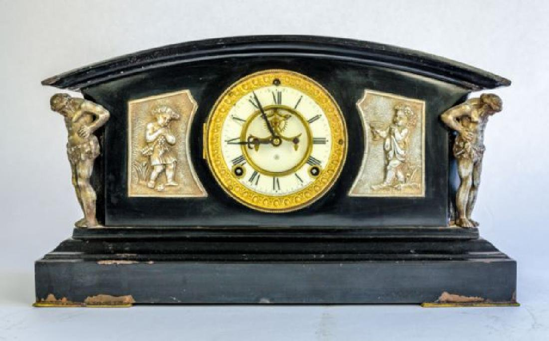 "ANTIQUE ANSONIA ""MONTEREY"" MANTLE CLOCK"
