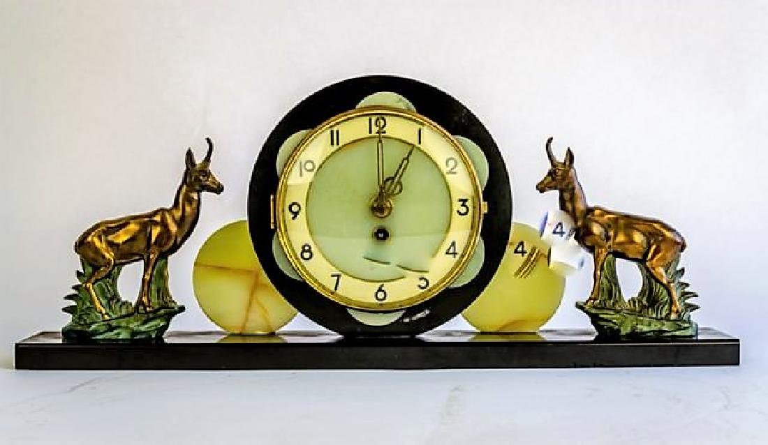 ART DECO FIGURAL CLOCK
