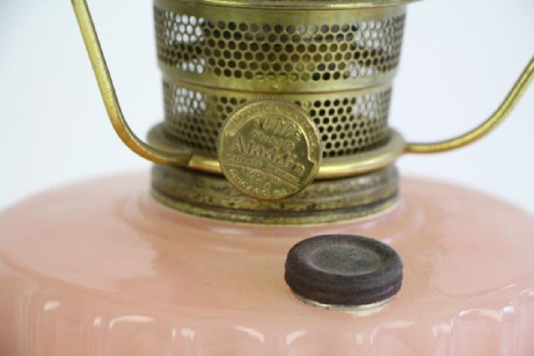 ALADDIN ROSE MOONSTONE CORINTHIAN OIL LAMP - 3