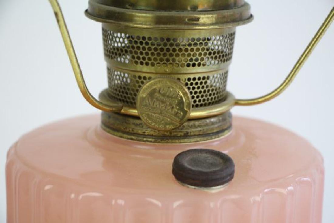 ALADDIN ROSE MOONSTONE CORINTHIAN OIL LAMP - 4