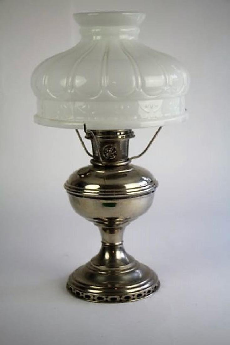 ALADDIN NICKEL PLATED OIL LAMP