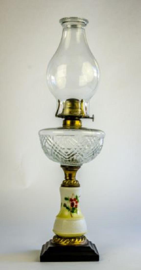 19TH CENTURY BRADLEY & HUBBARD OIL LAMP