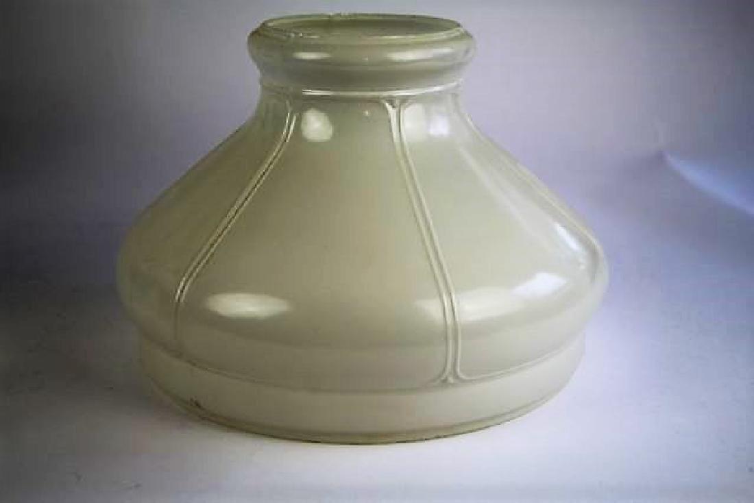 "ALADDIN WHITE ""DIAMOND QUILT"" OIL LAMP - 5"