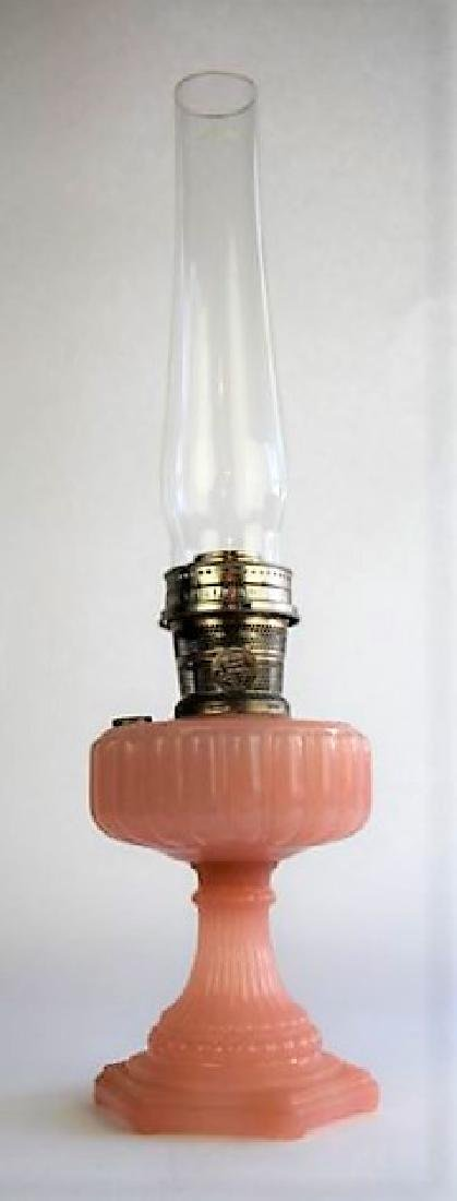 "ALADDIN ROSE ""CATHEDRAL"" OIL LAMP"