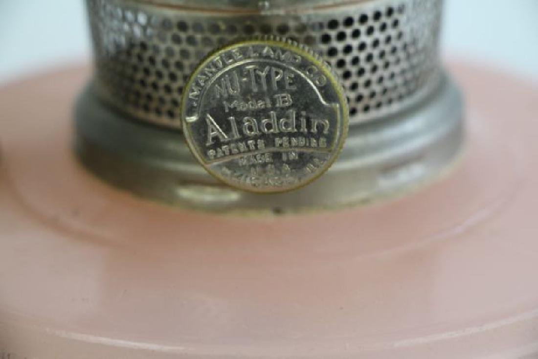 "ALADDIN ROSE ""CATHEDRAL"" OIL LAMP - 3"