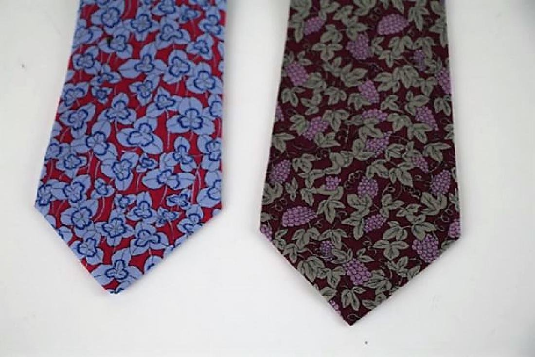 TWO HERMES MEN'S SILK NECK TIES - 2