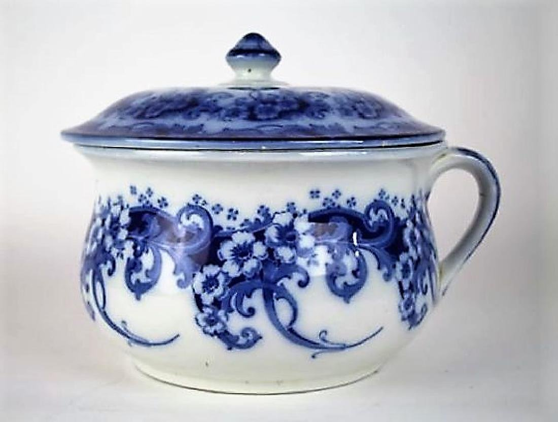 ROYAL DOULTON BLUE TRANSFER CHAMBER POT
