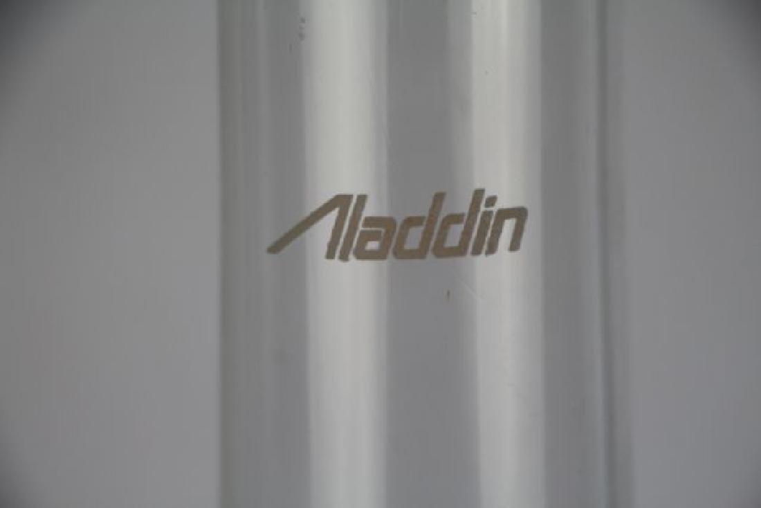 "ALADDIN AMBER""CORINTHIAN"" OIL LAMP - 4"