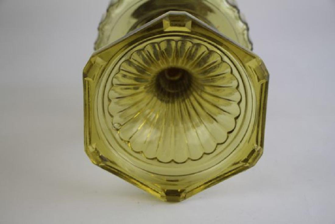 "ALADDIN AMBER""CORINTHIAN"" OIL LAMP - 5"