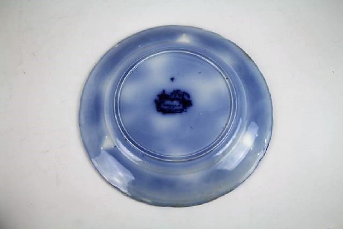 "SIX FLOW BLUE PLATES IN ""MANILLA"" PATTERN - 10"