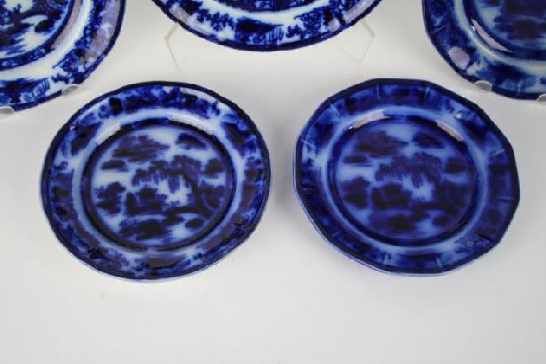 "SIX FLOW BLUE PLATES IN ""MANILLA"" PATTERN - 2"