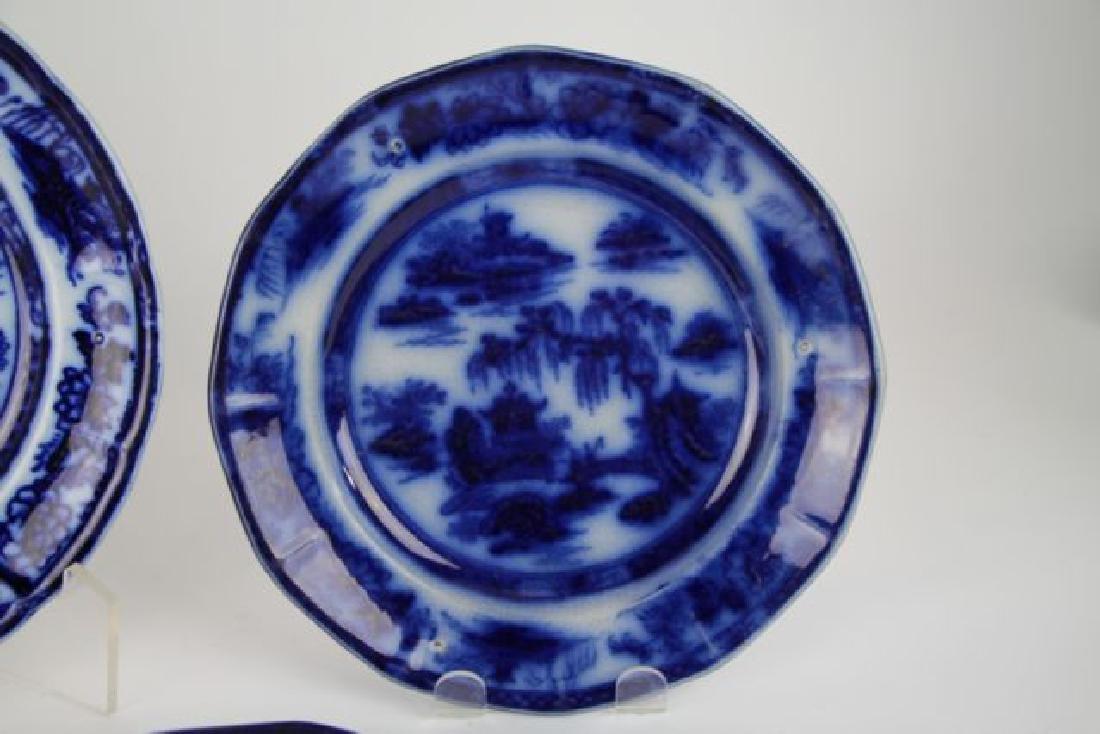 "SIX FLOW BLUE PLATES IN ""MANILLA"" PATTERN - 4"