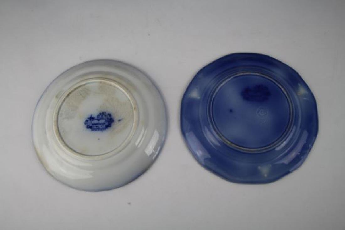 "SIX FLOW BLUE PLATES IN ""MANILLA"" PATTERN - 6"