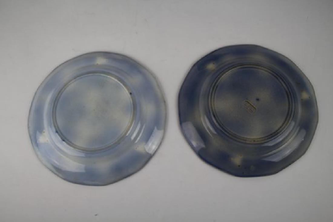"SIX FLOW BLUE PLATES IN ""MANILLA"" PATTERN - 7"
