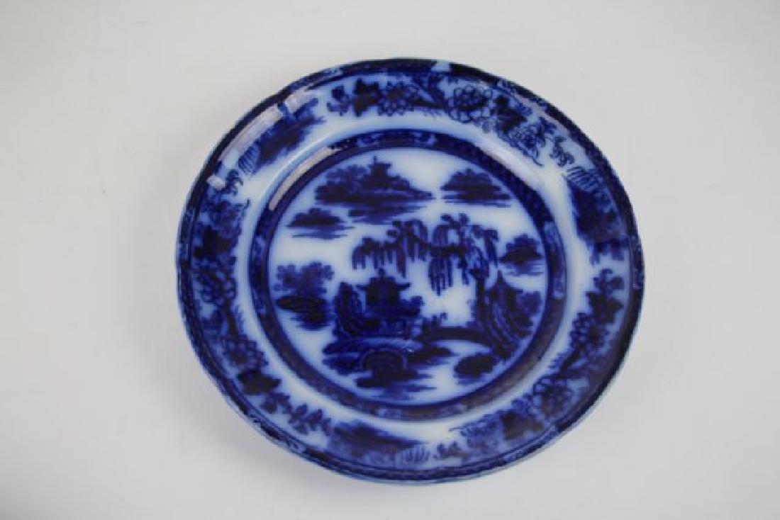 "SIX FLOW BLUE PLATES IN ""MANILLA"" PATTERN - 9"