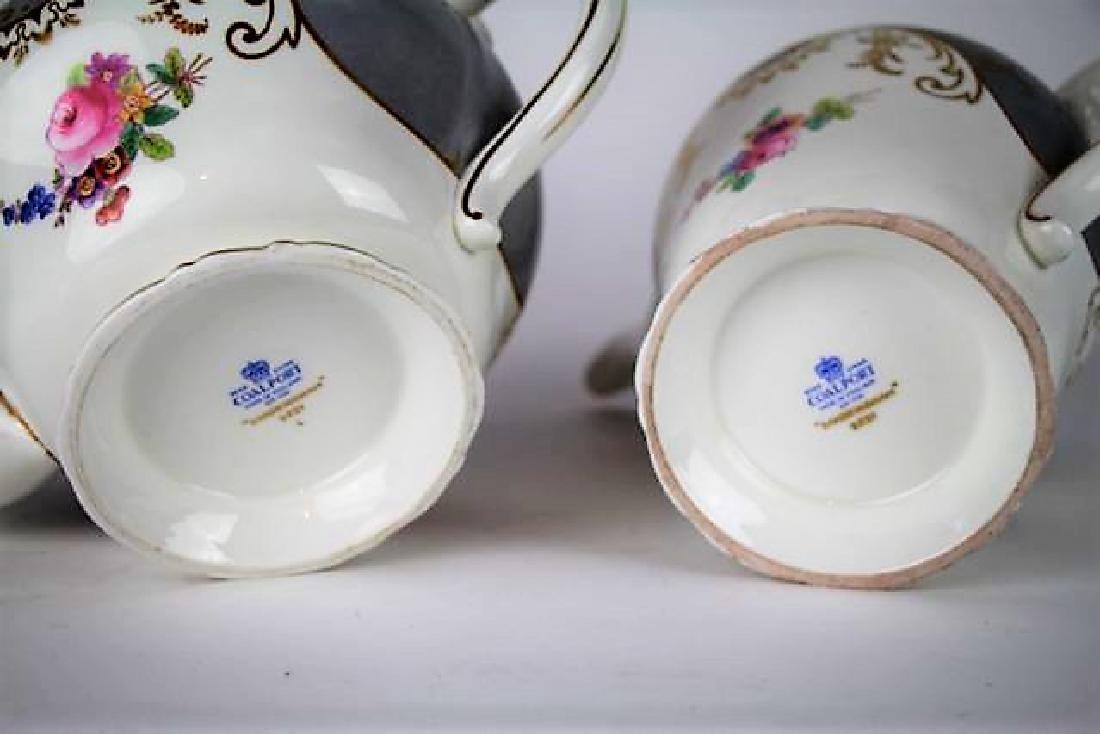 "COALPORT ""SANDRINGHAM"" PATTERN COFFEE & TEA POTS - 6"