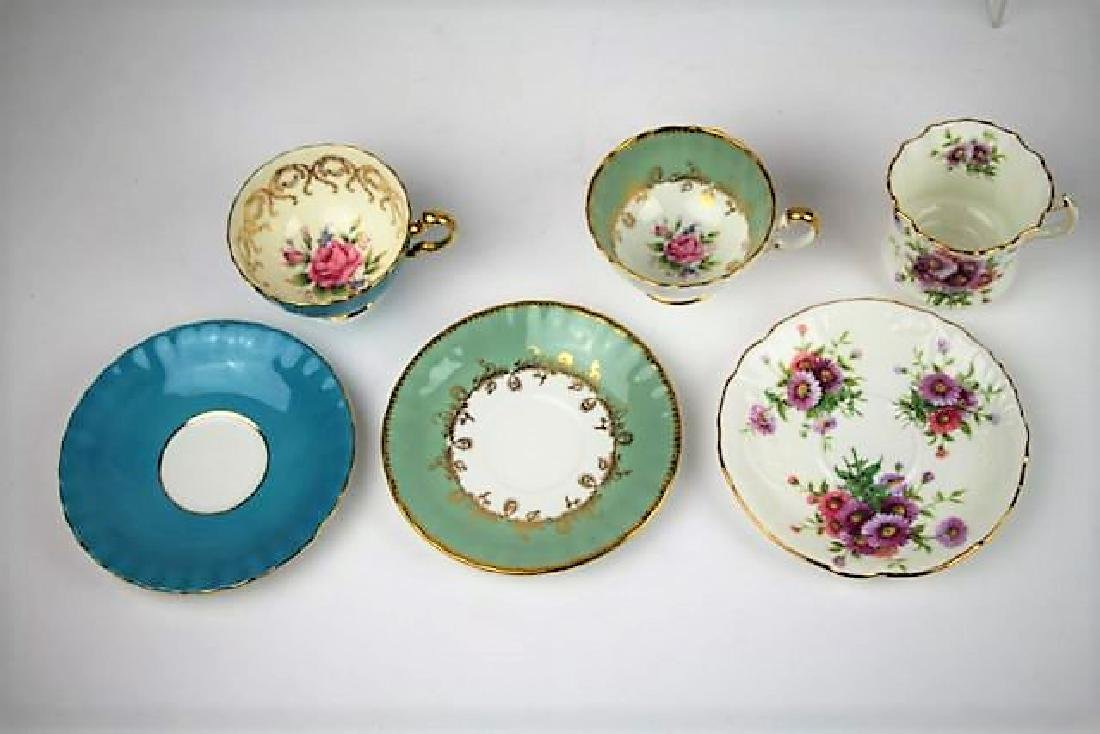 SIX ENGLISH CUPS AND SAUCERS - 2