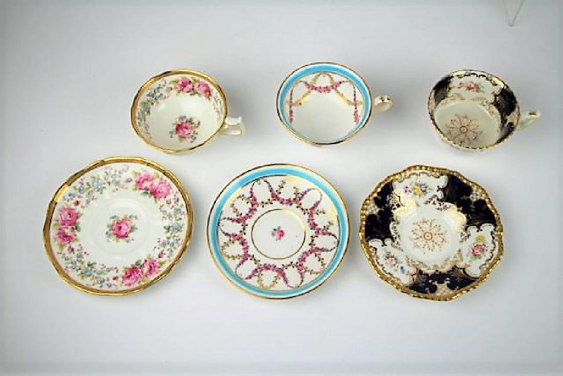 SIX ENGLISH CUPS AND SAUCERS - 4