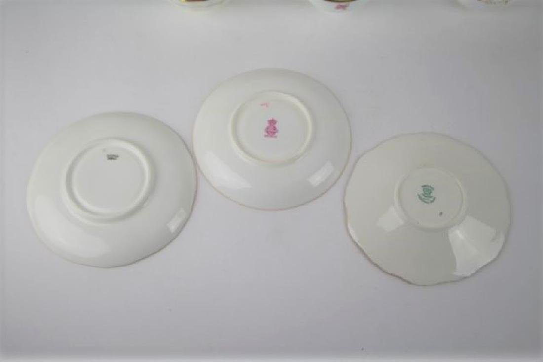 SIX ENGLISH CUPS AND SAUCERS - 5