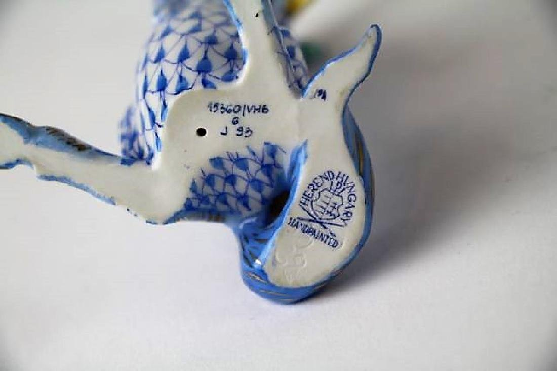 HEREND PORCELAIN ELEPHANTS AND UNICORN - 4