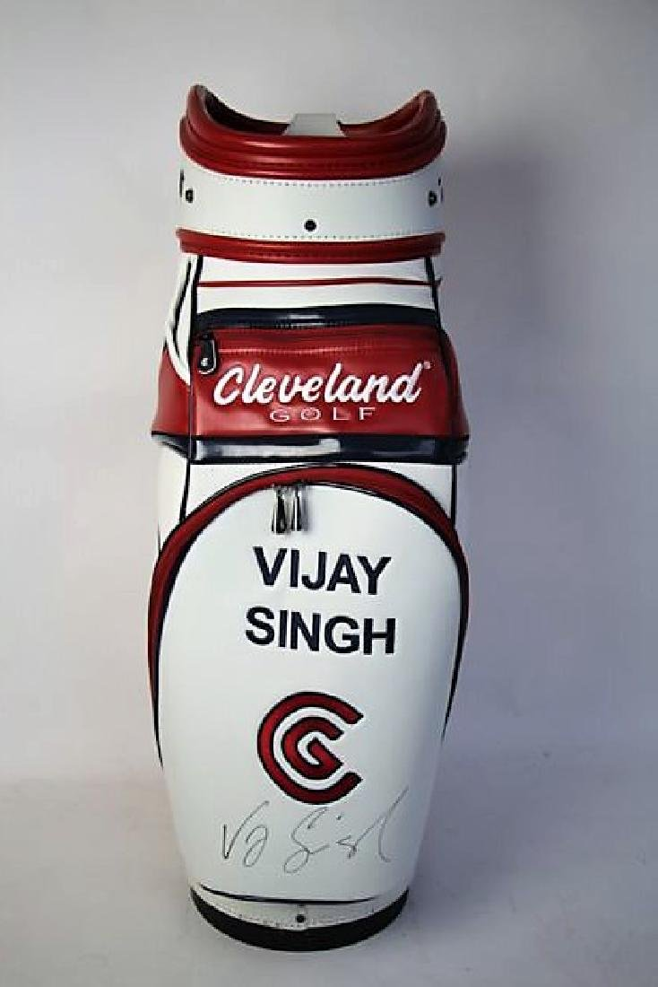 AUTOGRAPHED VIJAY SINGH GOLF BAG