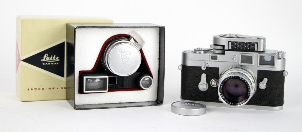 LEICA M3 CAMERA WITH TWO LENSES