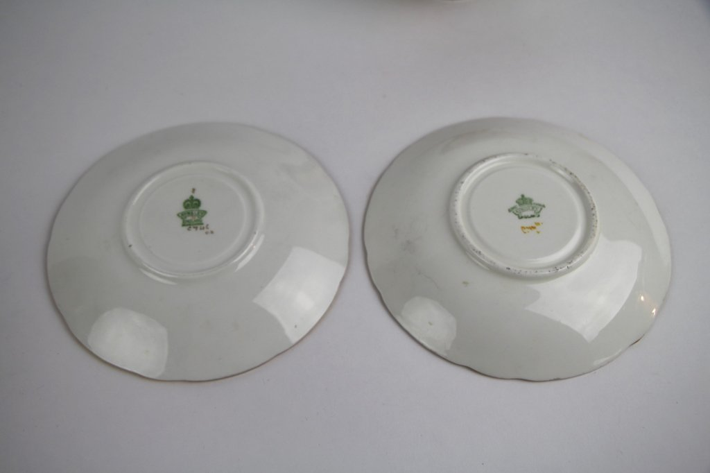 PAIR OF AYNSLEY FRUIT PATTERN CUPS AND SAUCERS - 3
